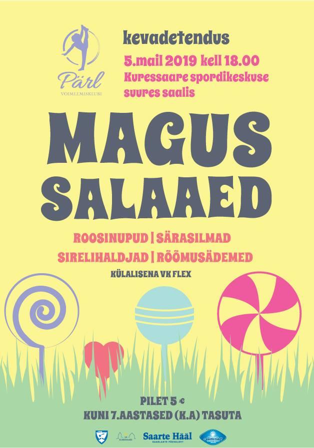 """""""Magus salaaed"""" kevadetendus @ Kuressaare Spordikeskus"""