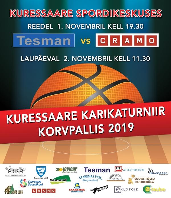 Kuressaare karikaturniir kovpallis 2019 - TESMAN vs CRAMO @ Kuressaare Spordikeskus